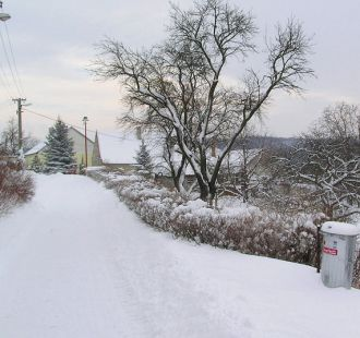 Bělov, zima