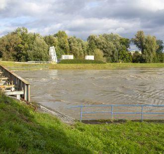 Zvýšená hladina Moravy