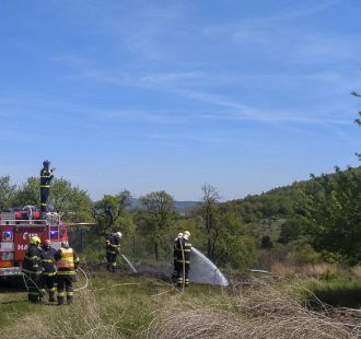 Požár trávy (horní pole)