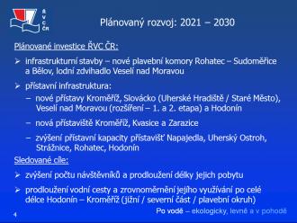 Plánovaný rozvoj Baťova kanálu: 2021 – 30