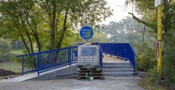Lávka přes Moravu je znovu otevřena