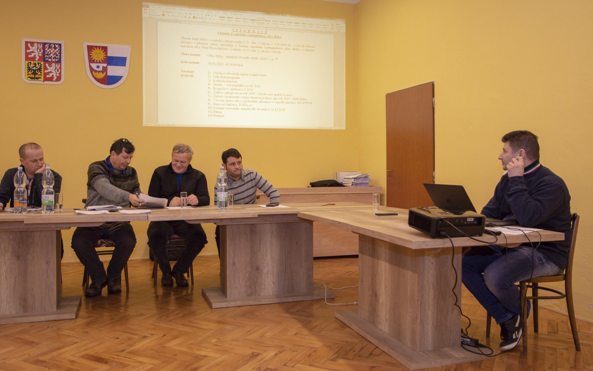 Zasedání obecního zastupitelstva