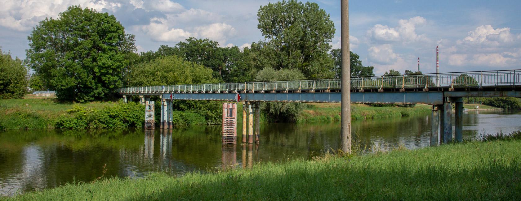 Během opravy bude lávka přes Moravu uzavřena