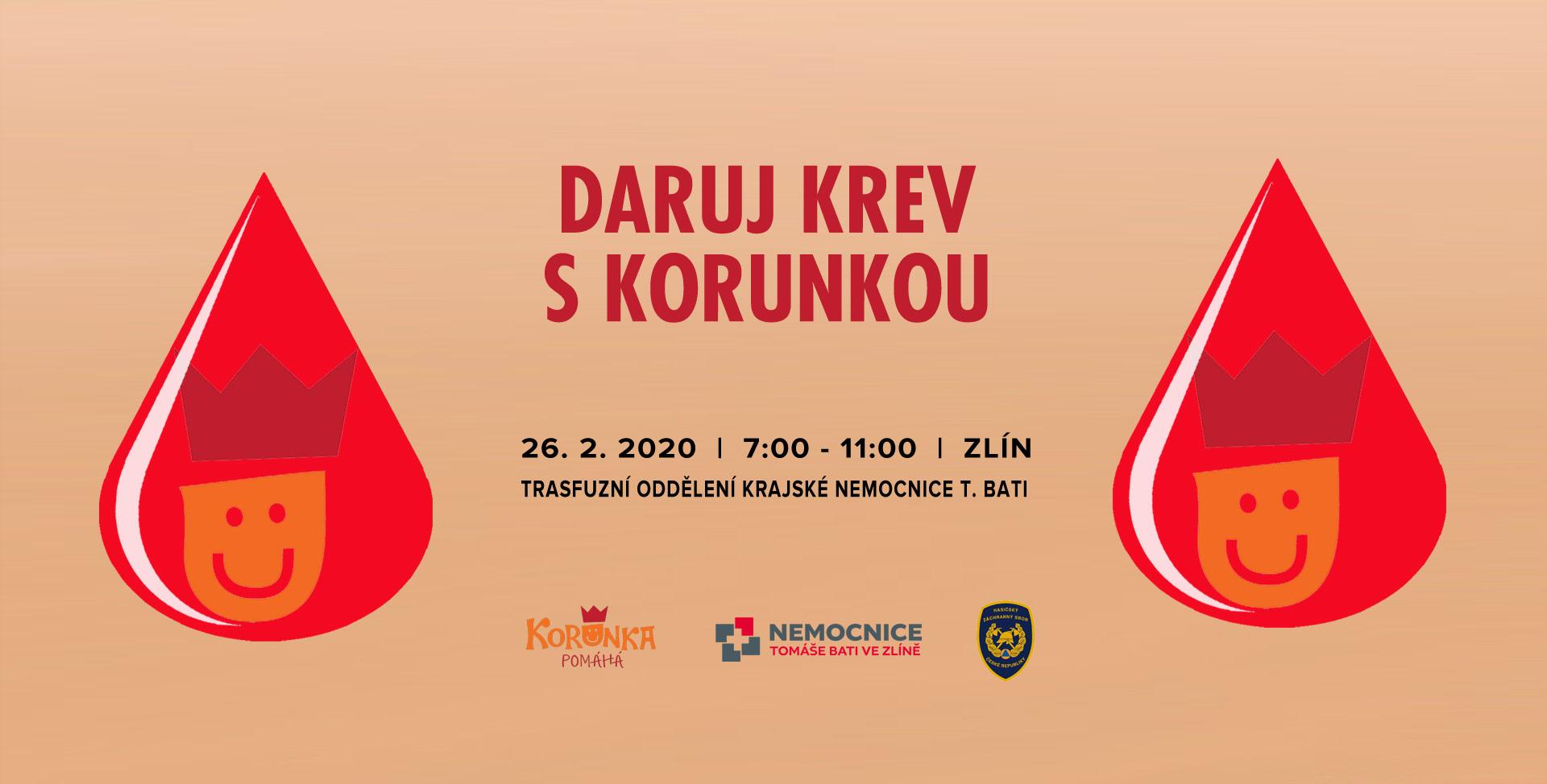 Daruj krev s Korunkou