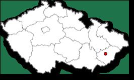 mapka ČR, poloha obce